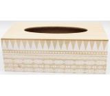 Nekupto Home Decor Dřevěný box na papírové kapesníčky 24 x 12 x 9 cm