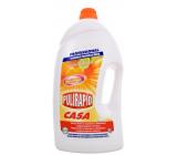 Pulirapid Casa Agrumi Citrusové ovoce univerzální tekutý čistič se čpavkem a alkoholem na všechny domácí omyvatelné povrchy 5 l