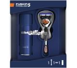 Gilette Fusion5 ProGlide holicí strojek pro muže + Fusion5 Ultra Sensitive gel na holení pro citlivou pleť 75 ml, kosmetická sada