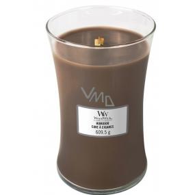 WoodWick Humidor - Pouzdro na doutníky vonná svíčka s dřevěným knotem a víčkem sklo velká 609,5 g