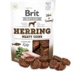 Brit Jerky Sušené masové pamlsky ze sledě a kuřete pro dospělé psy 80 g