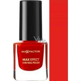 Max Factor Max Effect Mini Nail Polish lak na nehty 11 Red Carpet Glam 4,5 ml