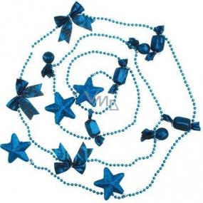 Souprava ozdob v sáčku hvězdy a balíčky modré