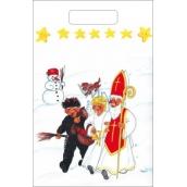 Anděl Igelitová taška Sněhulák, pes 36 x 27 cm