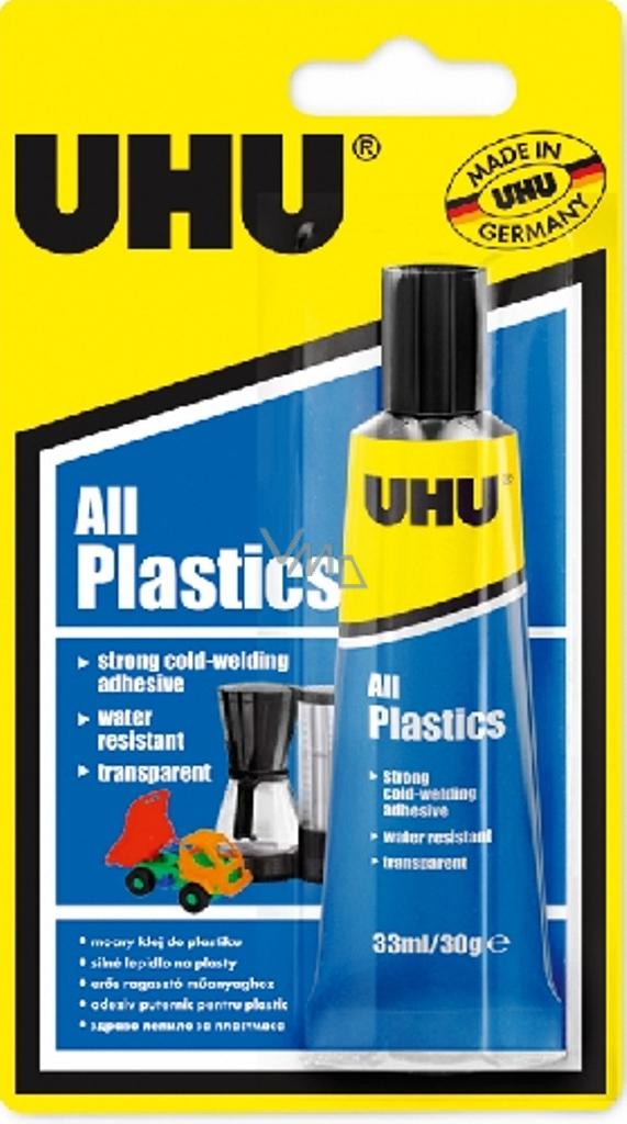 Uhu All Plastics Univerzální lepidlo pro studené svařování slepitelných  plastů 33 ml 959f46e9ba
