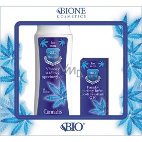 Bione Cosmetics for Men Q10 pleťový krém proti vráskám 40 ml + vlasový a tělový sprchový gel 200 ml, kosmetická sada