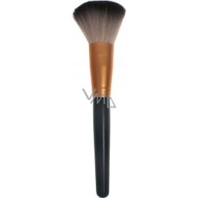 Kosmetický štětec na pudr rovný 30450 černo-měděný 18,5 cm
