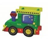 Dřevěné puzzle stojánek 01 Mašinka 20 x 15 cm