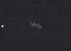 Arch Udělejte si reklamu sami černá samolepicí písmena a číslice 35 x 25 cm