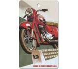 Bohemia Gifts Aromatická vonná karta Motorka 11 x 6,3 cm