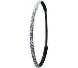 Ivybands Protiskluzová čelenka do vlasů metalické flitry, unisex, 1 cm