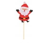 Santa z filcu zápich 9 cm + špejle č.3