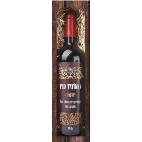 Bohemia Gifts Merlot Pro tatínka červené dárkové víno 750 ml