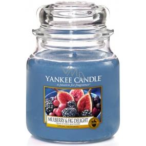 Yankee Candle Mulberry & Fig Delight - Lahodné moruše a fíky vonná svíčka Classic střední sklo 411 g