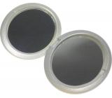Zrcátko dvojité oválné stříbrné 7,5 x 6 x 1,3 cm 853