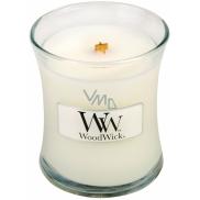 WoodWick Baby Powder - Dětský pudr vonná svíčka s dřevěným knotem a víčkem sklo malá 85 g
