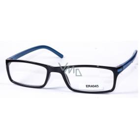 Berkeley Čtecí dioptrické brýle +3 černé modré stranice 1 kus MC2 ER4045
