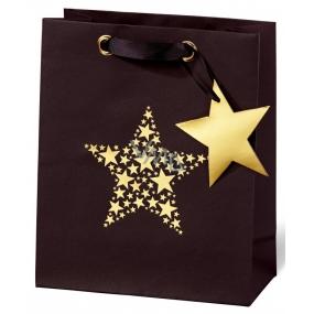BSB Luxusní dárková papírová taška 23 x 19 x 9 cm Vánoční Star Festival VDT 417 - A5