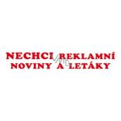 Arch Samolepka na schránku Nechci reklamní noviny a letáky 15 x 3 cm