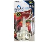 Glade Electric Scented Oil Cosy Apple & Cinnamon - Jablko a skořice tekutá náplň do elektrického osvěžovače vzduchu 20 ml