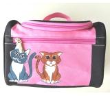 Albi Original Cestovní kosmetický kufřík Kočka 24 cm x 16 cm x 13 cm