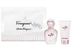 Salvatore Ferragamo Amo Ferragamo parfémovaná voda pro ženy 30 ml + tělové mléko 30 ml, dárková sada