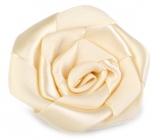 Ditipo Růže saténová nalepovací béžová 5 cm