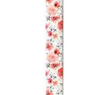 Ditipo Balicí papír bílý červené květy 100 x 70 cm 2 kusy