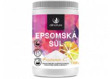 Allnature Allnature Epsomská sůl Hořčík, Síran + Vitamín C do koupele k regeneraci svalů s omlazujícím účinkem 1000 g