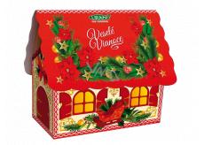 Liran Vánoční balení bílého čaje Domeček červený 20 x 2 g