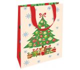 Nekupto Dárková papírová taška luxusní 11 x 18 cm Vánoční stromeček WLFS 1990