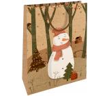 Nekupto Dárková kraftová taška 28 x 37 Vánoční sněhulák 607 WKHL