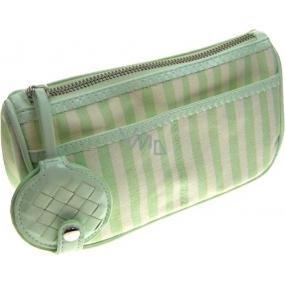 Bottega Veneta Pouch kosmetická taštička zeleno-krémová 20 x 11 x 7 cm 1 kus