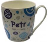 Nekupto Twister hrnek se jménem Petr modrý 0,4 litru 063 1 kus