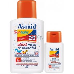 Astrid OF25 Mléko na opalování pro děti 200 ml + OF10 Beta-karoten mléko na opalování pro děti 100 ml