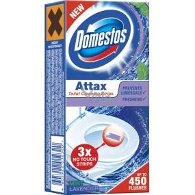 Domestos Attax Mint Lavender čistící proužky do toalety 3 x 10 g