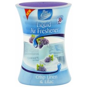 Pan Aroma Liquid Air Freshener Šeřík & Svěží prádlo tekutý osvěžovač vzduchu sklo 75 ml 1 kus