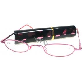 Berkeley Cleopatra čtecí dioptrické brýle +2,50 růžové v pouzdru srdíčka 1 kus M160