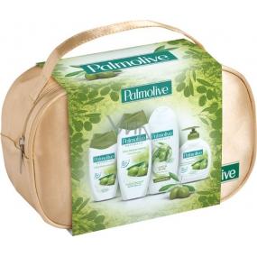 Palmolive Naturals Olive Milk pěna do koupele 500 ml + sprchový gel 250 ml + Long & Shine šampon 350 ml + tekuté mýdlo 300 ml + kosmetická taštička, kosmetická sada