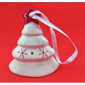 Zvonek keramický s červeným potiskem 9 cm