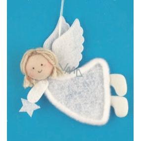 Anděl bílý plyšový 12 cm