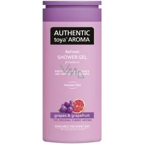 Authentic Toya Aroma Grapes & Grapefruit aromatický sprchový gel 400 ml
