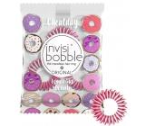 Invisibobble Original Cheatday Donut Dream Gumička do vlasů růžovo-bílá s vůní čerstvých donatů 3 kusy