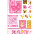 Nekupto Dárková papírová taška 32,5 x 26 x 13 cm Baby holčička růžová 1 kus 1558 30 KFL