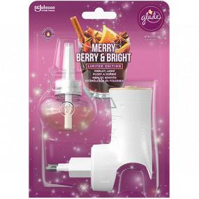 Glade Electric Scented Oil Merry Berry & Bright s vůní merlotu, lesních plodů a koření elektrický osvěžovač vzduchu strojek s tekutou náplní 20 ml