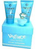 Versace Dylan Turquoise toaletní voda pro ženy 5 ml + tělový gel 25 ml + sprchový gel 25 ml, mini dárková sada
