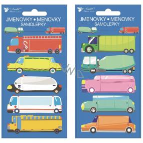 Samolepicí jmenovky auta 8 x 16 cm