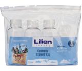 Lilien Travel Kit cestovní sada lahvička se šroubovacím uzávěrem 3 x 75 ml + nádobka na krém 3 x 10 ml