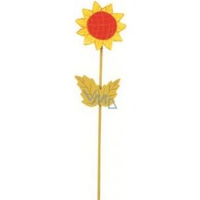 Zápich slunečnice na pružince žlutá 28 cm