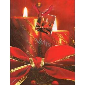 Nekupto Dárková papírová taška střední 914 30 WBM Svíčky s mašlí červené 23 x 18 x 10 cm